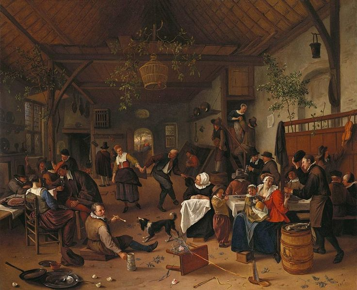 The Athenaeum - Merrymaking in a Tavern with a Couple Dancing (Jan Steen - )