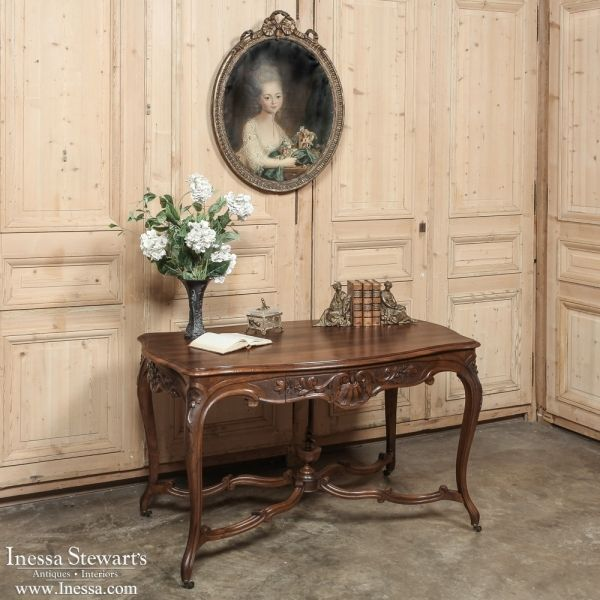 View this item and discover similar desks and writing tables for sale at -  Sculpted from solid French walnut, this antique French Louis XV desk boasts  a ... - 271 Best French Antiques Images On Pinterest Antique Furniture