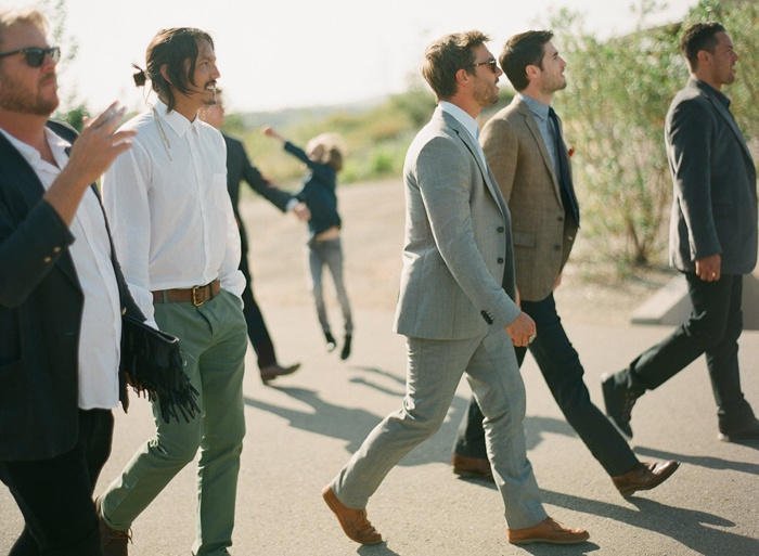 Mismatched Groomsmen. Cute