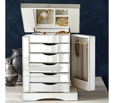 Ultimate Mirrored Jewelry Box #potterybarn