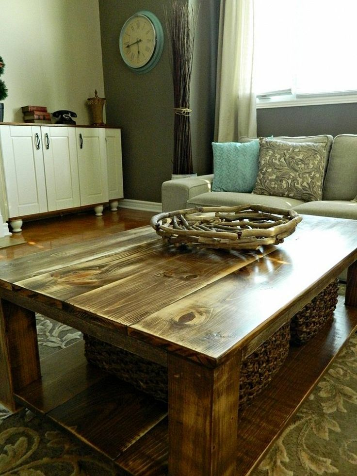 DIY Rustic Coffee Table with Storage in About 3 or 4 Days :: Hometalk