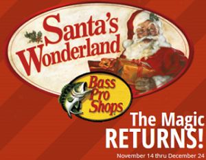 FREE Photo with Santa and Wonderland Events at Bass Pro Shops on http://hunt4freebies.com