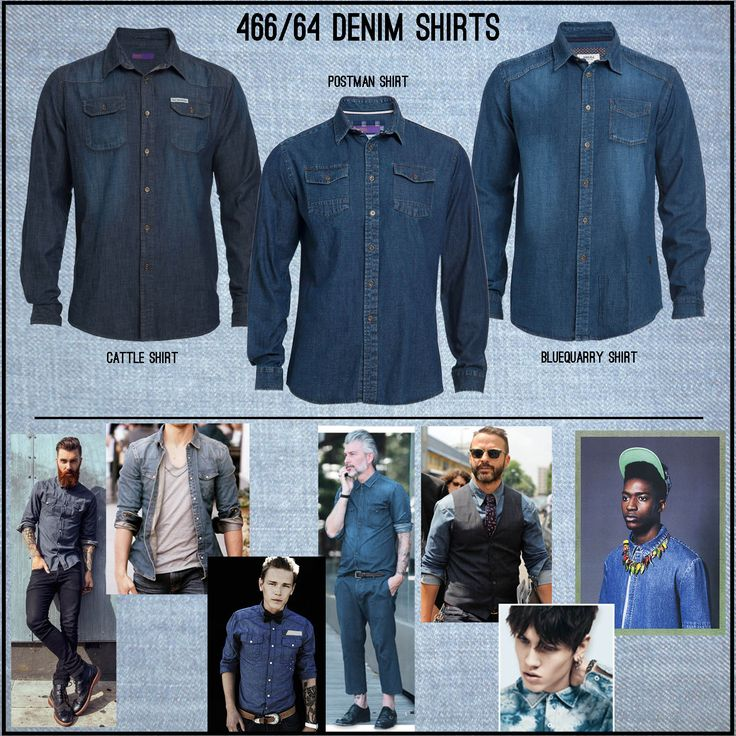 Denim shirts - layer it, dress it up or dress it down - you can't go wrong! http://bit.ly/1xt8R13  #Menswear #Winter15 #Denim #Shirts #ProudlySouthAfrican