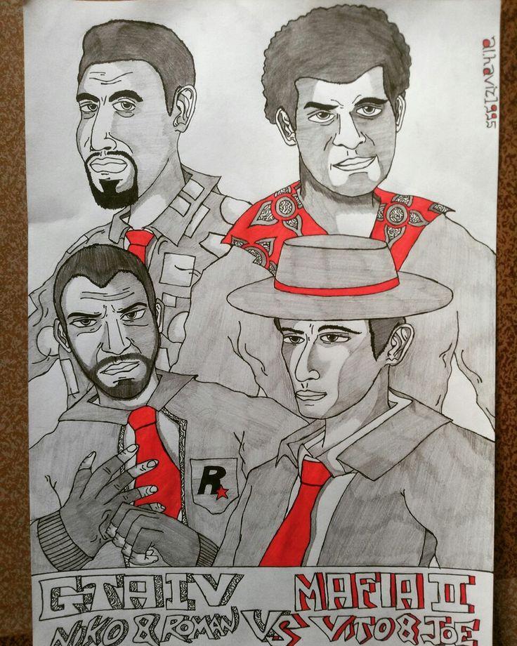 Niko Bellic and Roman Bellic Vs Vito and Joe, GTA IV and MAFIA II