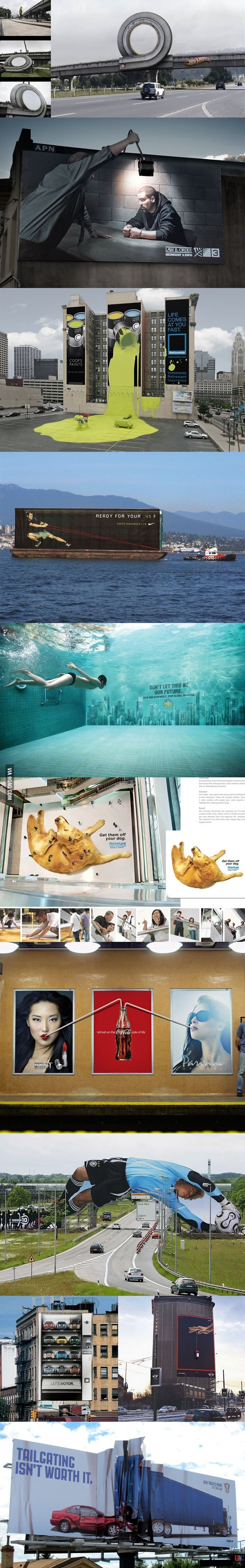 Incredible billboards from around the world.