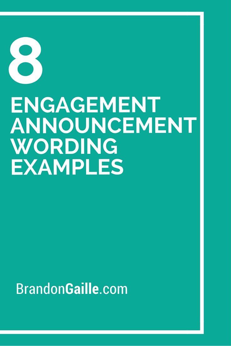 Engagement Announcement Wording Examples | Engagement Announcements ...