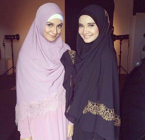 Beautiful Young Sisters Wearing Correct Hijab