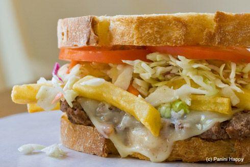 Pittsburgh-Style Cheese Steak Panini... Hometown Panini... has to be awesome!