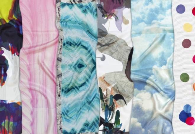 Petite Friture presenta Abstraction collezione 2014 dei foulard di design