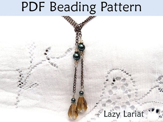 pearl lariat necklace instructions