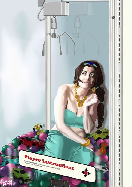 'A prize to be won'.  In the Disney film 'Aladdin', the heroine Jasmine has been stereotyped to be a prize. Men desired Jasmine for her title and beauty instead of her inner beauty. Jasmine is worried as she knows that eventually she will be won by a man rather than be swept of her feet by a man of her choice. This idea implies that women are sometimes seen as an object rather than as an individual. https://www.facebook.com/AlanaRoseMays