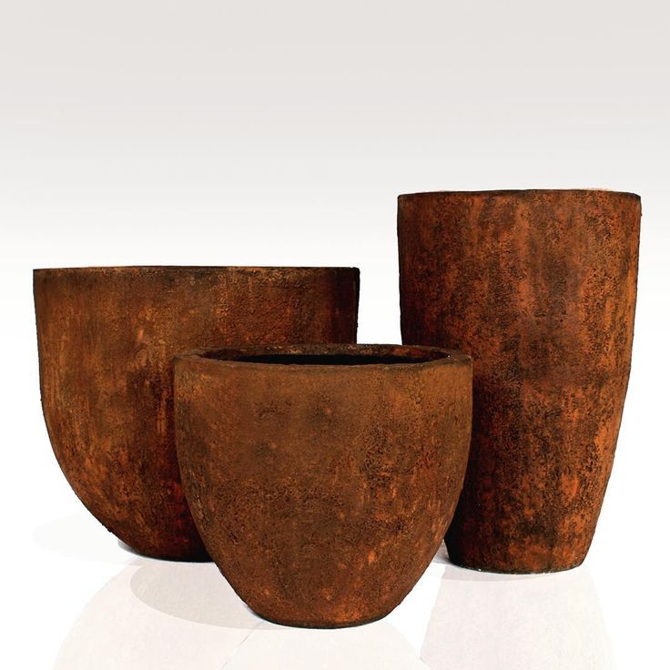 """The Apollo set of 3 #gfrc #grc #lightweightconcrete #planters #pots #urns #gardendesigns #rusticpots exportersofgardenplanters #landscapegardens"""