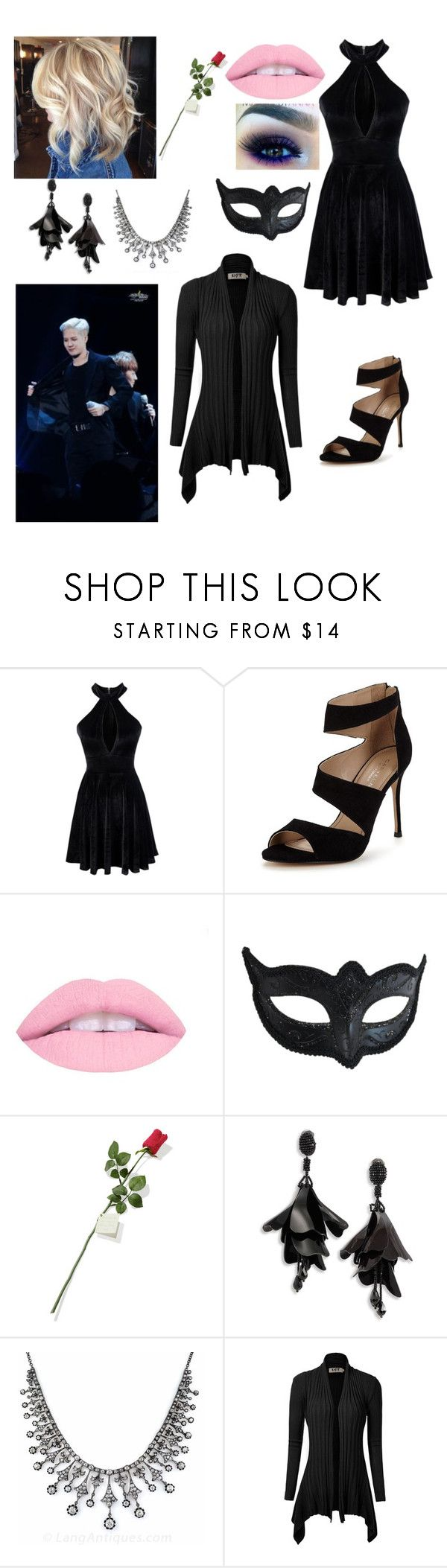 """prom with Jackson"" by btsgirl1234 ❤ liked on Polyvore featuring Carvela, Masquerade, Hanky Panky and Oscar de la Renta"