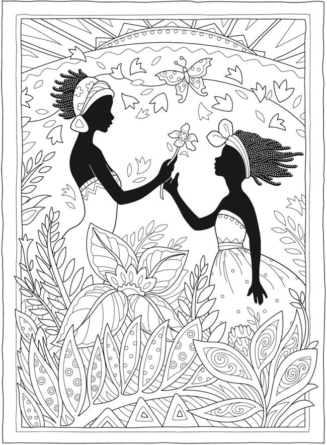 Creative Haven African Glamour Coloring Book Dover