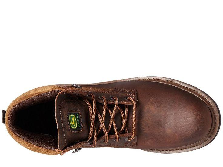 John Deere 6 Steel Toe Boot Men's Work Boots Gaucho Brown