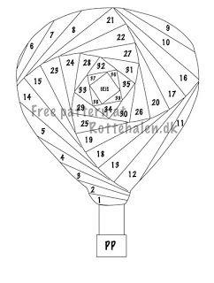 Didde: Hot air balloon in Iris folding