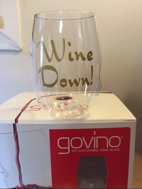 4 Monogrammed Govino Dishwasher Safe by AliciaBeam on Etsy
