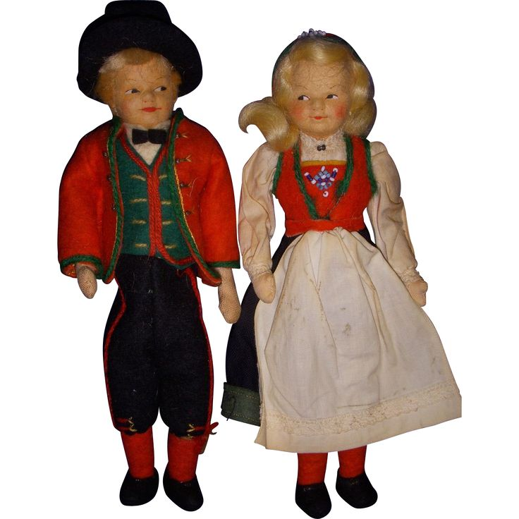 Vintage Pair Ronnaug Petterssen Dolls All Original!
