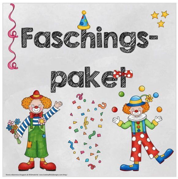 """Kleines Materialpaket """"Fasching/Karneval"""" Für die """"närrischen Tage"""" habe ich ein kleines Materialpaket zusammengestellt, das allerlei Arb..."""