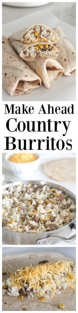 10493 best best comfort food recipes images on pinterest rezepte make ahead country burritos perfect for anytime of the day and so simple to prepare forumfinder Images