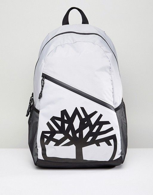 Timberland Classic Backpack Large Tree Logo in Gray