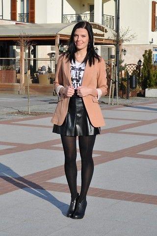 pleated skirt and blazer fetish