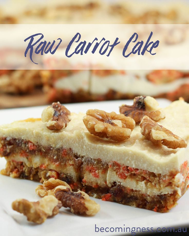 Best 25 raw carrots ideas on pinterest raw recipes raw food dessert recipe raw carrot cake w macadamia frosting forumfinder Images