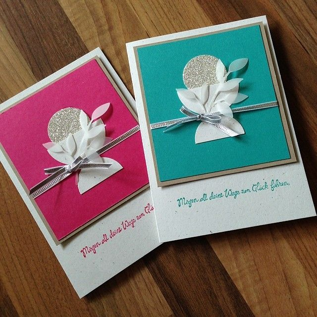 Schnelle Kommunionkarten für die Nachbarskinder. Entdeckt bei Pinterest.