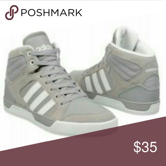 ADIDAS  NEO Label High Top Sneakers Adidas Grey High Top Sneakers , size 11.5 , Grey's an White , lace up with grey laces , adidas logo on the tongue an back of sneakers , very good condition , smoke free an pet free home. Adidas Shoes Sneakers