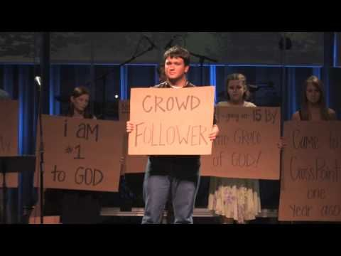 "CrossPoint Community Church NextGen service highlight.  Youth wrote before and after testimonies on cardboard and showed them during a Sunday morning worship service before the sermon.  This was powerful and moving.  The music is Sheila Marshall singing ""How He Loves Us."""