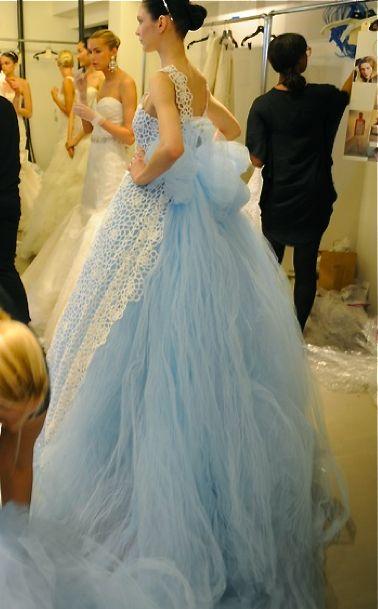 Oscar De La Renta Something Blue And Blue Wedding Gowns