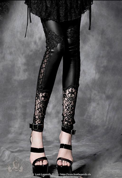 Visual Kei Lily Dream Leggings Gothic Leggings