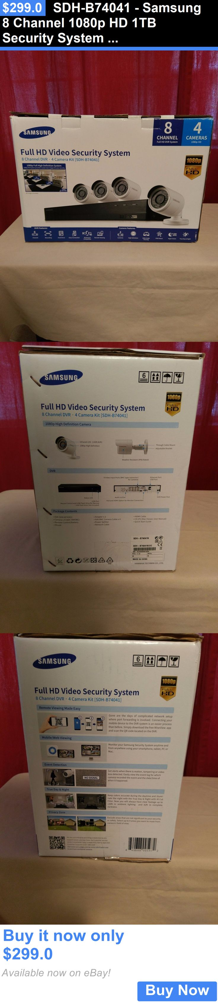 Notebook samsung expert x37 - Electronics Sdh B74041 Samsung 8 Channel 1080p Hd 1tb Security System With 4