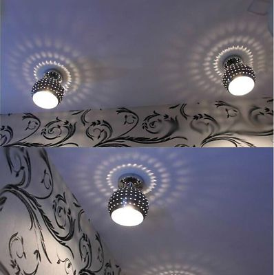Small-LED-Chandelier-Silver-Lampshade-Aisle-Hallway-Ceiling-Lighting-Fixtures-1X