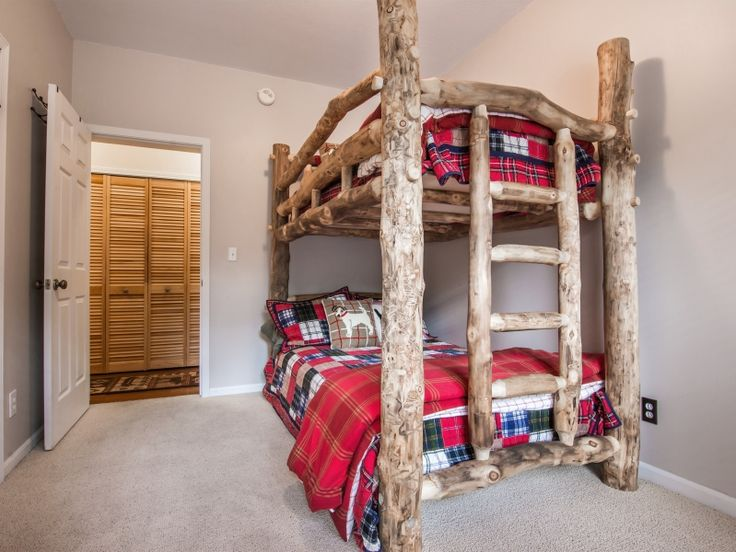 Check Out This Breckenridge Vacation Rental Cabin Bunk Room. Kids Will Love  The Log Bunks