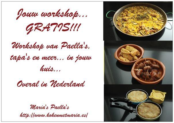 De Eerste workshop van Paella Valenciana overal in Nederland!!!