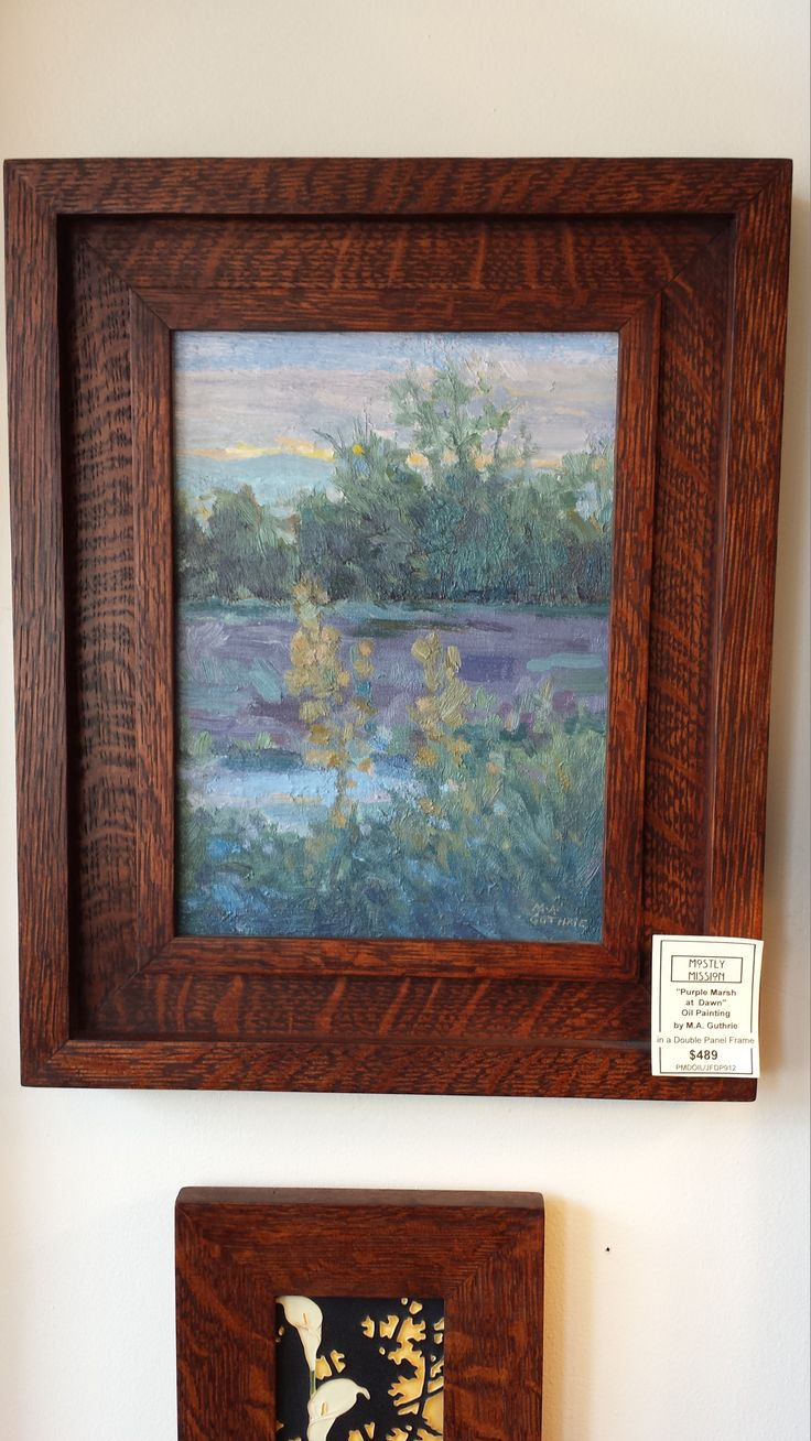 Quarter-sawn oak double panel photo frame