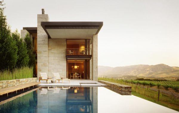 infinity pool overlooking my vineyard