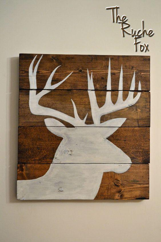 Wood  Deer Silhouette :