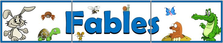 A 3-page printable fables title display banner with wonderful charismatic illustrations of animals that feature in fables. Superb for setting the theme of a topic that will complement the learning in the classroom. Visit our TpT store for more information and for other classroom display resources by clicking on the provided links.