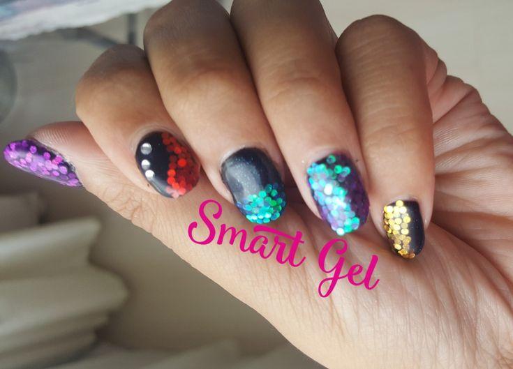 Glitter manicure   💅 #nails #nail #fashion #nailart #nailpolish #polish #nailswag #beauty #beautiful #pretty #girl #girls #stylish #sparkles #styles #glitter #art #photooftheday #love #style #shiny #cute #silver #black #manicure #glitternails #glitter #smartgel