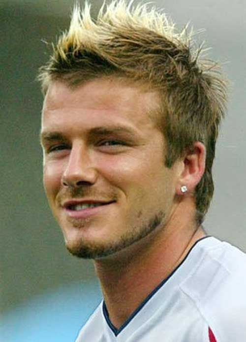 David Beckham Mohawk Hair