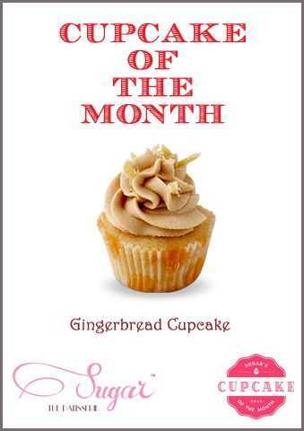 Voila!! The cupcake of the month has arrived! It's the Gingerbread Cupcake! Bet you haven't heard of this one often!  #sugarthepatisserie #cupcakeofthemonth #cupcakes #gingerbread #yumyum