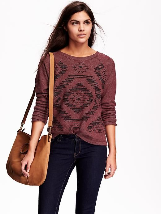 Patterned French-Terry Top