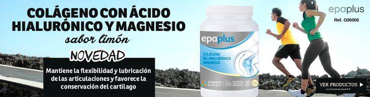 Cuida tus articulaciones con Epaplus, colágeno, ácido hialurónico y magnesio con agradable sabor limón ¡perfecto para deportistas! http://shop.vitasalud.com/dolor-muscular/product28968