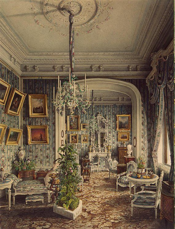 Jules Mayblum  Palace of Count P. S. Stroganov. Boudoir