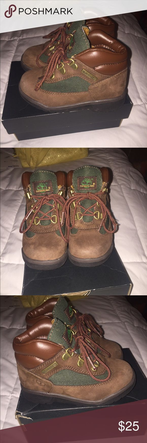"""Timberlands beef and broccoli edition Chocolate brown and green """"beef and broccoli"""" toddler boy timberland boots in good condition Timberland Shoes Boots"""