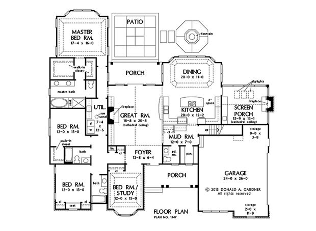 Swell 17 Best Images About One Story Home Plans On Pinterest Donald O Largest Home Design Picture Inspirations Pitcheantrous