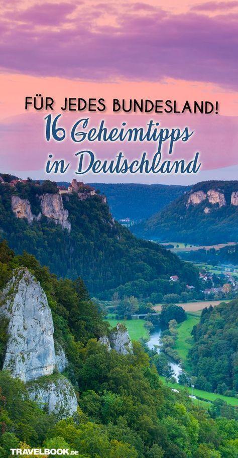 16 Geheimtipps für Deutschland – einer für jedes Bundesland!