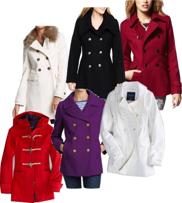 """""""Wool blend coats"""" by fabriana22 on Polyvore: Blend Coats, Navy Coats, Wool Blend, Wool Peacoats, Red Coats"""